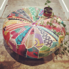 recycled fabric pouffe