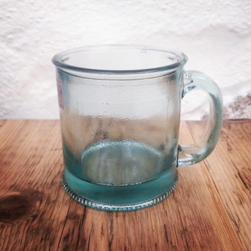 recycled glass mug