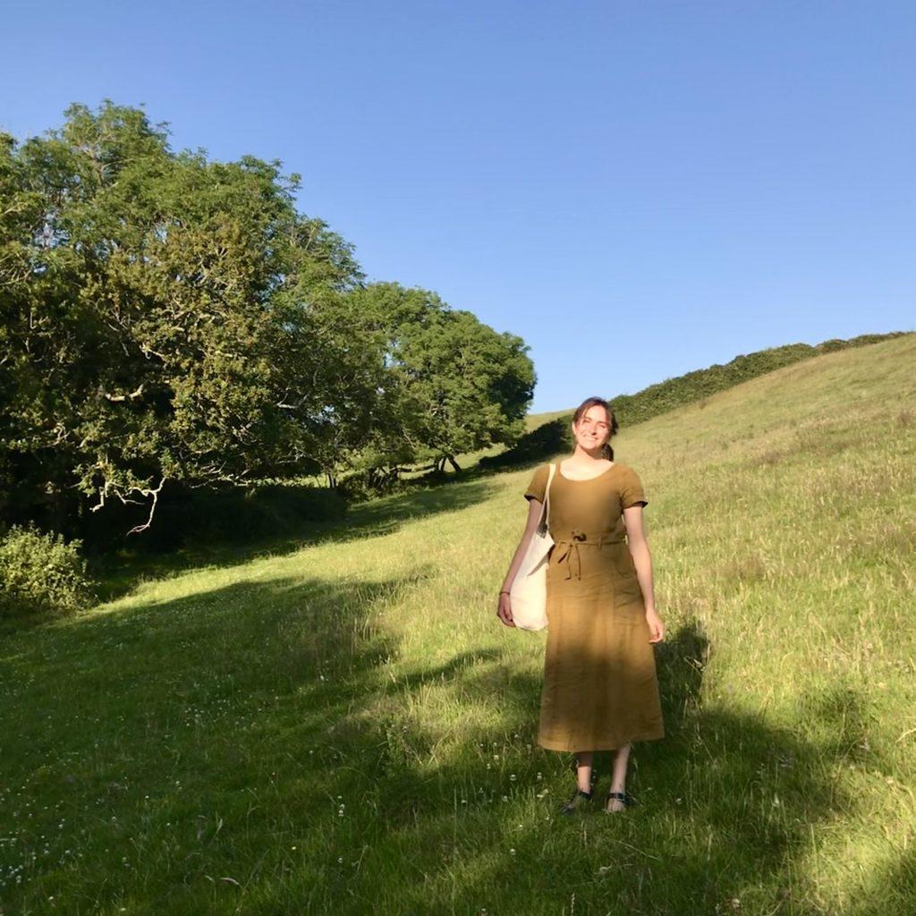 Artist in a meadow